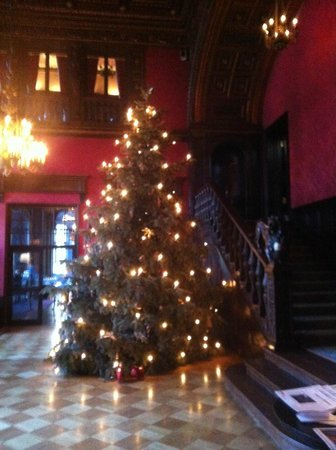 Patrick Hellmann Schlosshotel: шикарная рождественская елка в холле