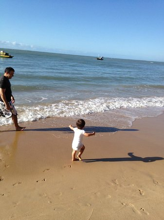 Pousada Enseada do Espelho: Mar calmo para crianças