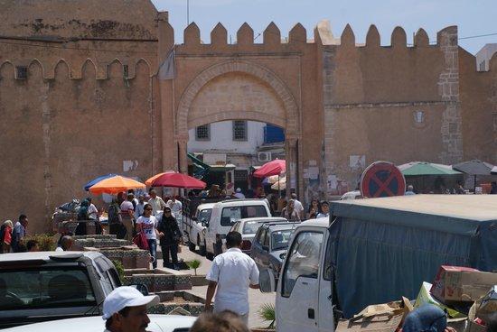 Medina: old city gate.