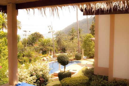 Khanom Hill Resort: View from room over pool area.
