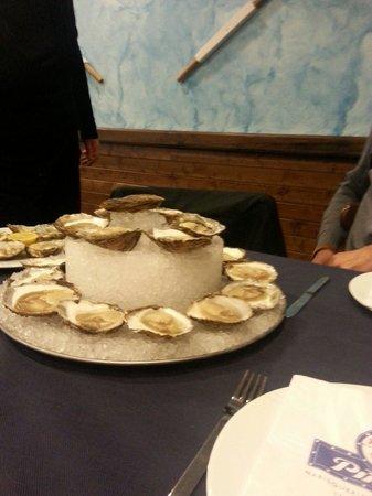 Marisqueria La Lonja : Mi tartita de ostras;-)