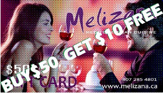 Melizana: BUY $50 GIFT CARD AND GET $10 FREE!!!