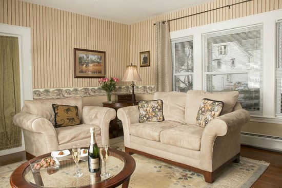 Glynn House Inn: Roosevelt Luxury Suite - sitting room with elegant furnishings