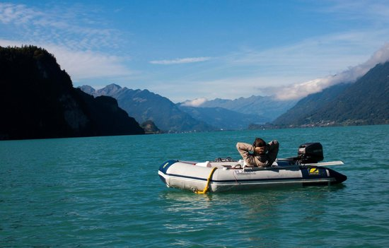 Brienzersee: A rented boat
