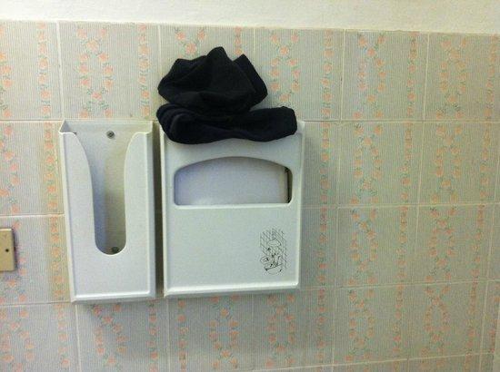 A Casa Vittoria bed & breakfast: Кто-то из постояльцев забыл свои носки...