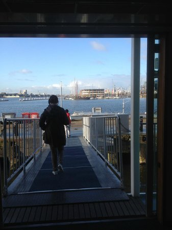 Amstel Botel: The front door view.