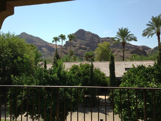 Omni Scottsdale Resort & Spa at Montelucia: View from our room -  beautiful sight to wake up to each morning!