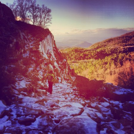 Pulpit Rock: Icy trail