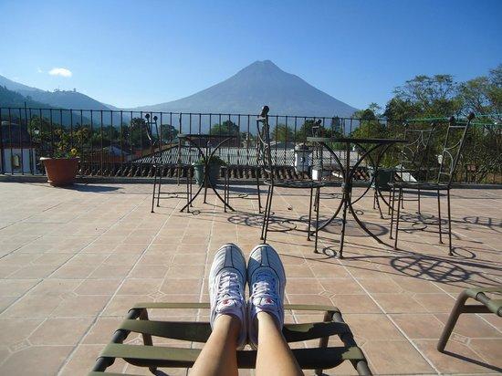 Hotel Tradiciones Antigua: vista do terraço