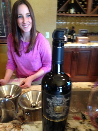 Bennett Lane Winery: This young lady knows her stuff