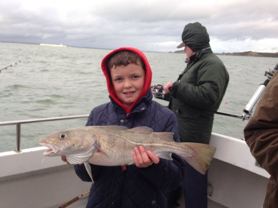 Black Rock Charters and Fishing: Billy's 1st Cod !!