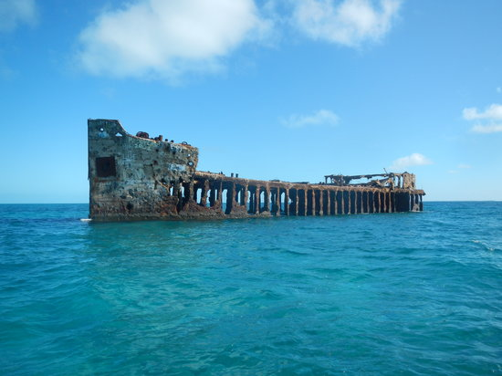 Bimini Undersea: Let us show you the way to . . . Sapona, the concrete ship.  Snorkeling around this wreck is ama