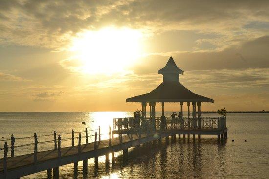 Grand Bahia Principe La Romana: View of pier out on the beach