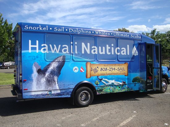 Marriott's Ko Olina Beach Club: Hawaii Nautical's van picks up and delivers you after diving/snorkeling/sailing