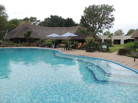 A'Zambezi River Lodge : Fab pool!