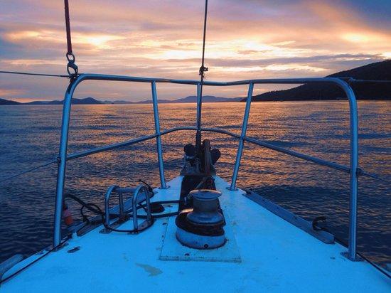 ISail Whitsundays: Beautiful sunset!