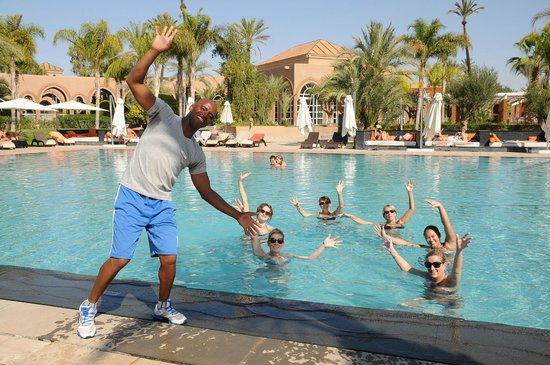 Pullman Marrakech Palmeraie Resort and Spa: Aquagym avec rachiiiid