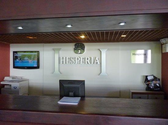 Hesperia Playa El Agua: recepcion