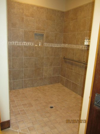 Five Pine Lodge & Spa: Huge Shower