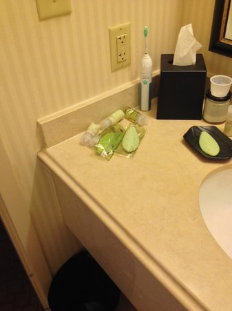 The Westin Poinsett, Greenville : This is their way to put up your bathroom items