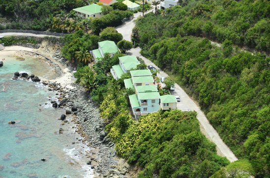 Auberge de la Petite Anse: View from high above