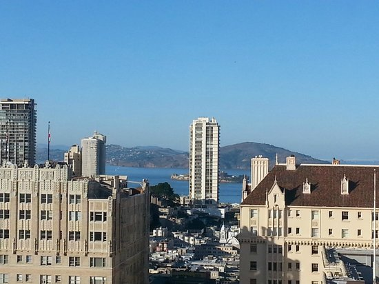 InterContinental Mark Hopkins San Francisco: View from 14th floor facing north with Alcatraz in the background
