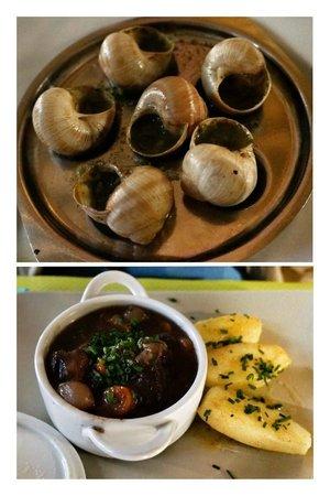 Le Bistrot Bourguignon : Prato do dia: escargots e boeuf bourguignon!