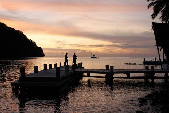 Marigot Beach Club and Dive Resort: View from Doolittles restaurant