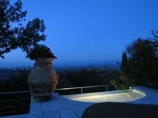 Villa Cicolina: the pool area at dusk stunning