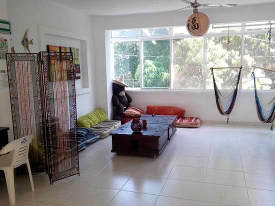 The Amazing Hostel Sayulita: Espectacular área de TV