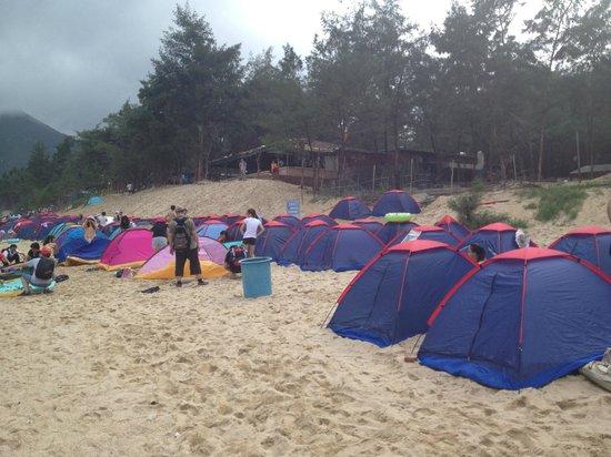 Xichong Beach: Подготовка к ночёвке