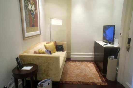 Small Living Room Area With Flat Screen Tv In Junior Suite Picture Of Raffles Makati Tripadvisor