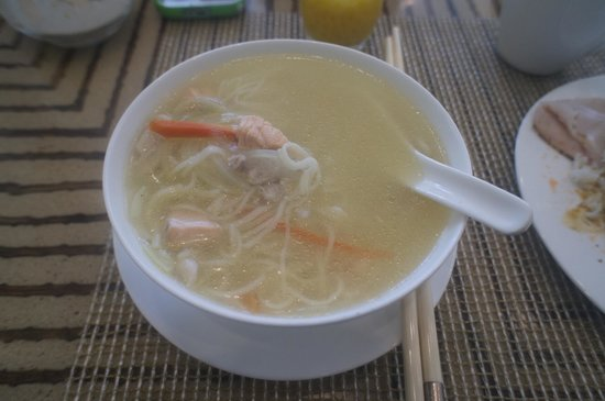 Raffles Makati: Made to Order soup at Spectrum restaurant during breakfast