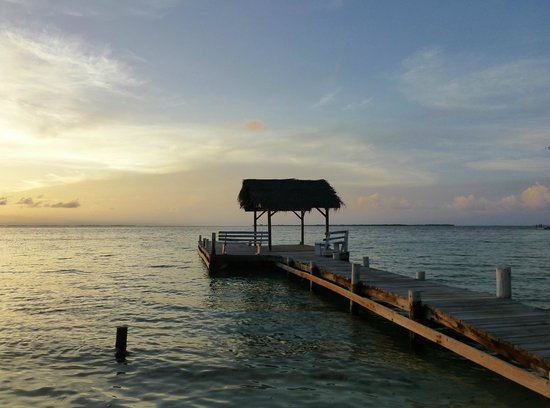 Pelican Beach - South Water Caye : The dock
