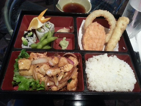 lunch bento box picture of yamato japanese restaurant galveston tripadvisor. Black Bedroom Furniture Sets. Home Design Ideas