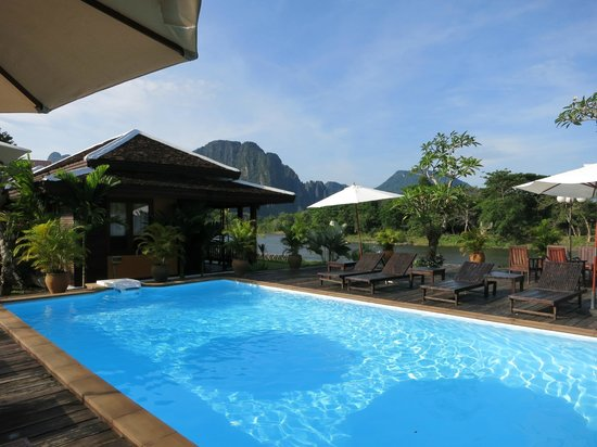 Villa Vang Vieng Riverside: The Swimming Pool