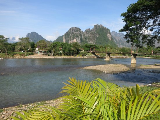 Villa Vang Vieng Riverside: View from the Pool Area