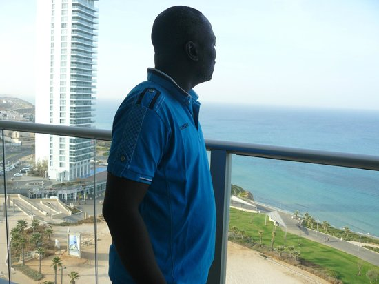 Ramada Hotel and Suites Netanya: Standing In the balcony of our room overlooking the sea.