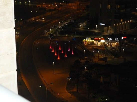 Ramada Hotel and Suites Netanya: Night view from our rooms balcony