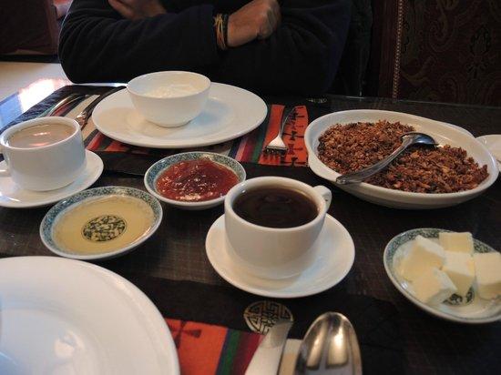 Yeti hotel Gyantse : Desayuno