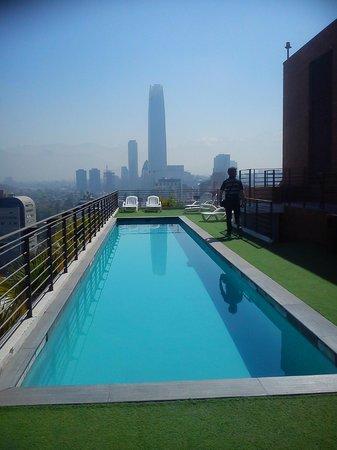 Austral Suites: vistas desde la piscina del hotel