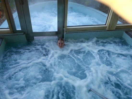 The Elms : The indoor/outdoor hot tub