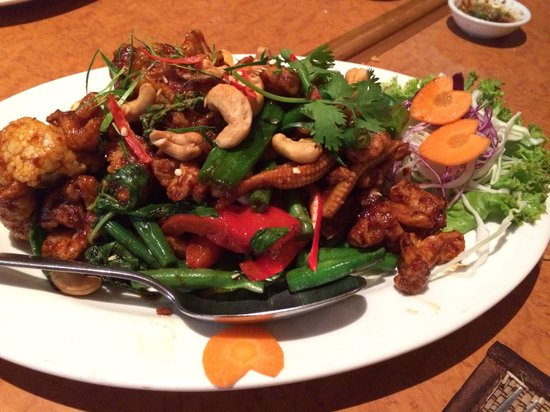 Thai Spy Restaurant: This dish is our youngest child favourite. Crispy chicken and cashew nut.