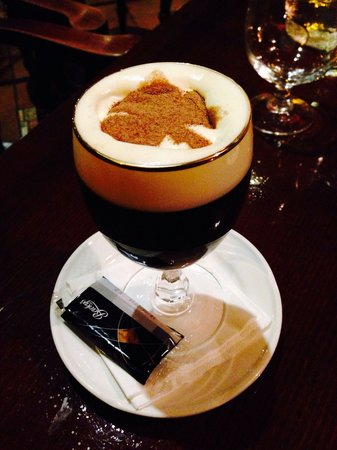 International Hotel Killarney: Irish coffee in the pub attached to the hotel.  Such attention to detail was evident throughout