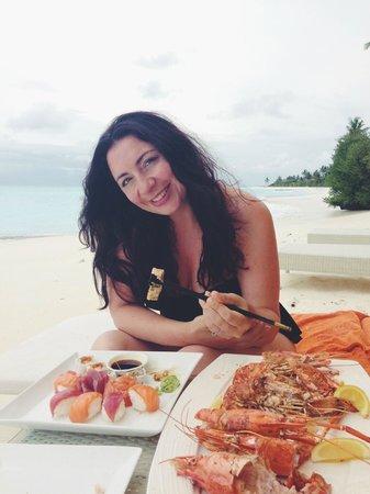 PER AQUUM Niyama Maldives : The most delicious tiger prawns