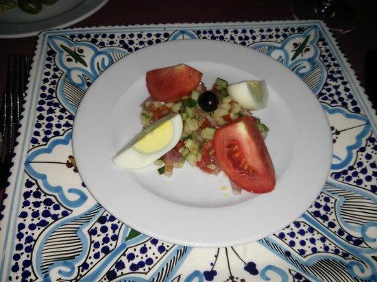 SENTIDO Rosa Beach : restaurant tunisien (entrée)