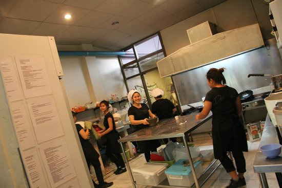 Destiny Cafe & Restaurant: A behind-the-scenes look in the kitchen. Instant smiles!