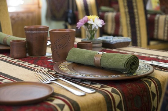 Erivan Restaurant: table laid in traditional style