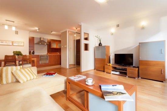 Sodispar Serviced Apartments: Davos living room