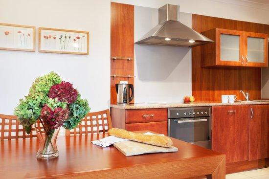 Sodispar Serviced Apartments: Kitchen in Davos apartment